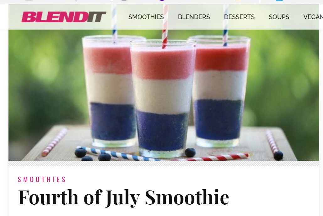 Check out this healthy 4th of July Smoothie Recipe
